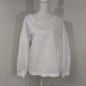 Worthington NWT ($37) White Puffy Sleeve Blouse